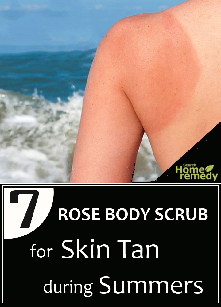 Rose Body Scrub For Skin Tan