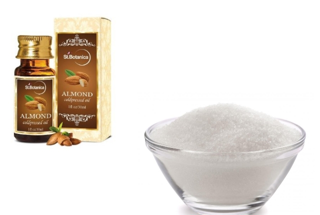 Almond oil sugar serum