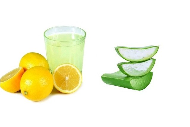 Aloe Vera Gel With Lemon Juice