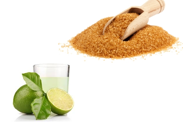 Brown sugar with lime juice