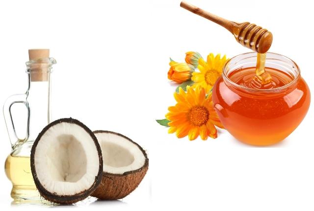 Coconut oil honey mask