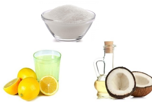 Coconut oil sugar and lemon