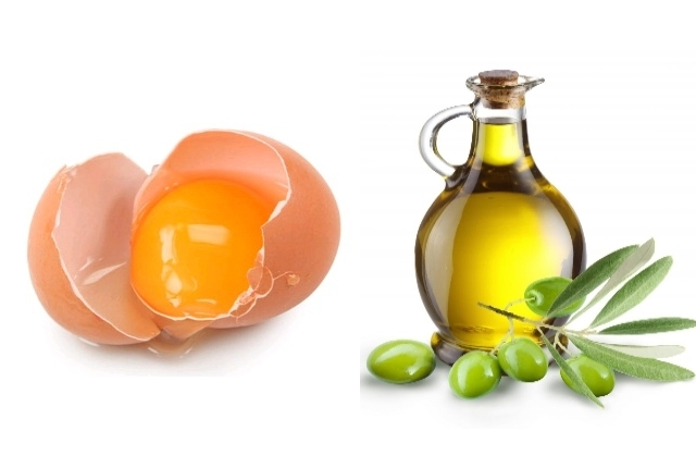 Egg olive oil mask