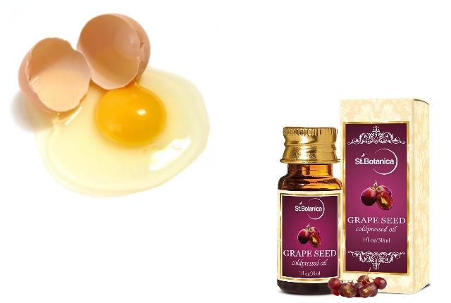 Egg white grape seed oil