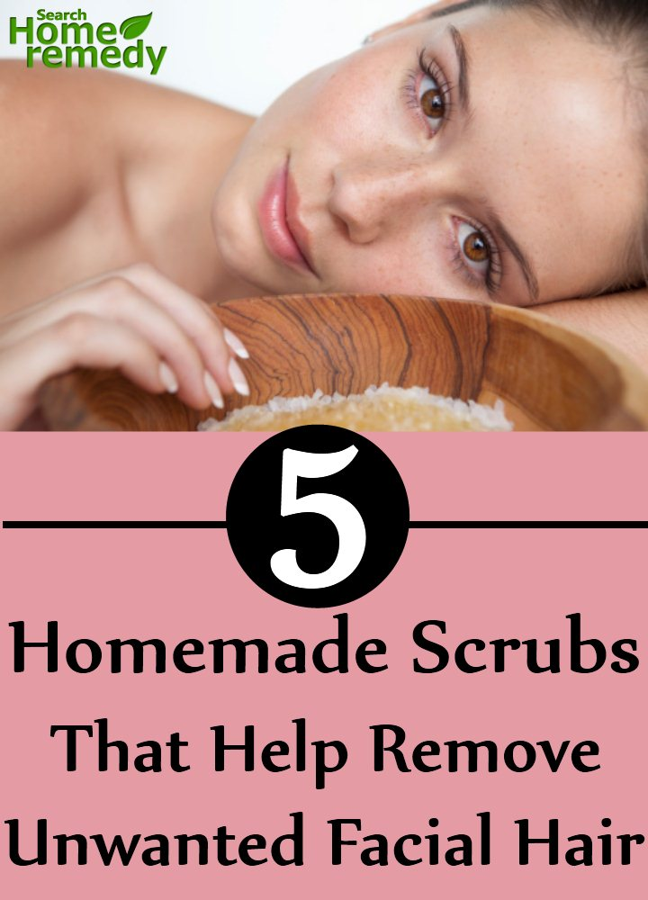 Homemade Scrubs That Help Remove Unwanted Facial Hair