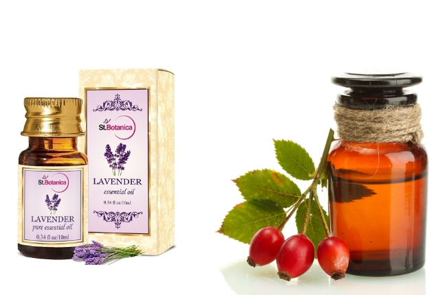 Lavender oil and rosehip oil serum