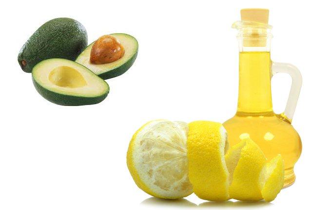 Lemon and Avocado Hair Mask