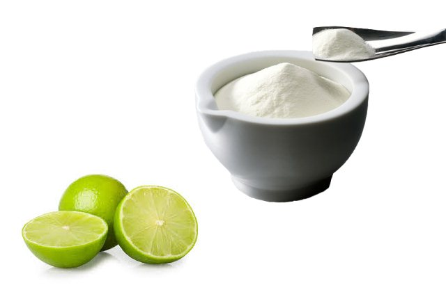 Lime juice and milk powder