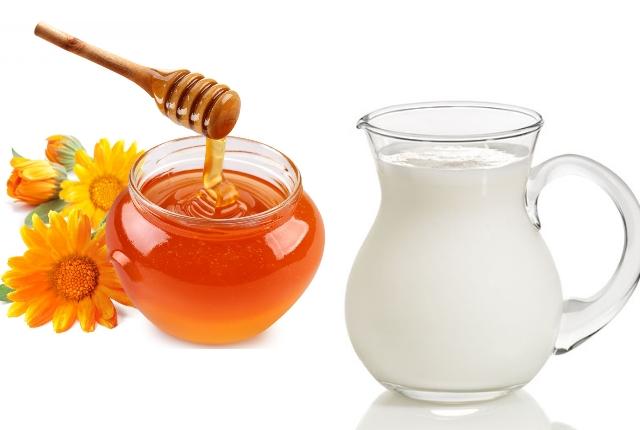 Milk honey mask