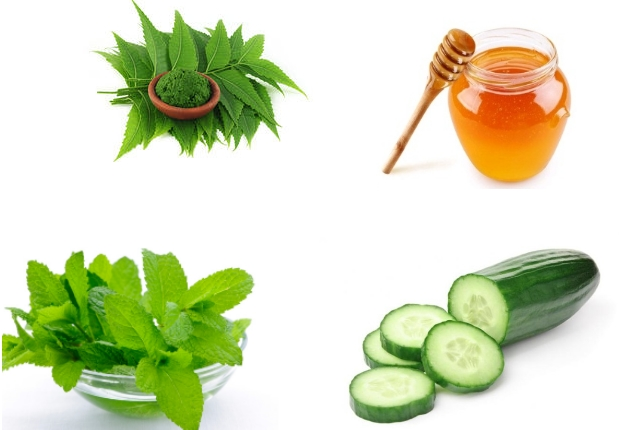 Mint and Cucumber Face Pack