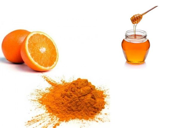Orange peel powder and honey