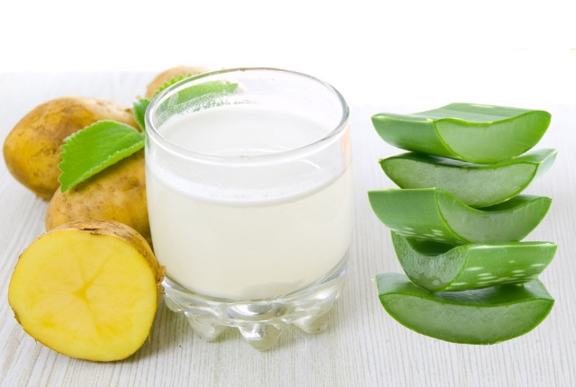Potato Juice And Aloe Vera Gel