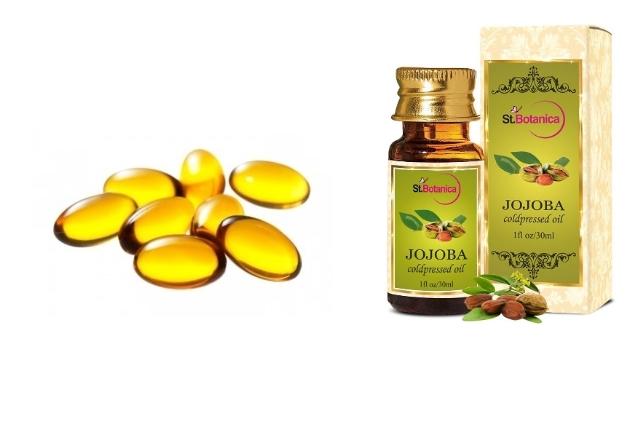 Vitamin e oil jojoba oil