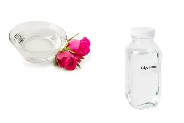 Apply Glycerin With Rose Water