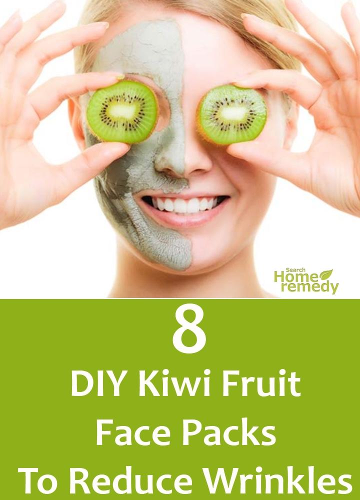 DIY Kiwi Fruit Face Packs To Reduce Wrinkles