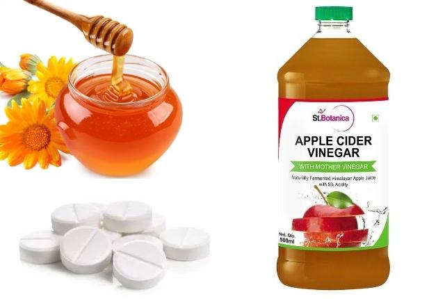 Honey and Aspirin Face Mask with Apple Cider Vinegar