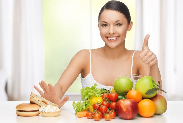 women Eat foods