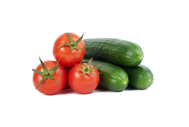 Cucumber and Tomato