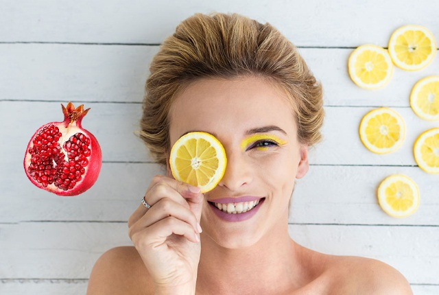 Pomegranate & Lemon Facial Mask for Oily Skin
