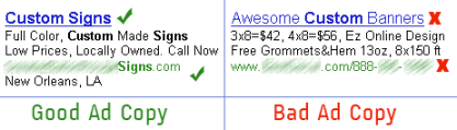 Google Adwords Ad Copy