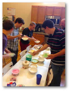 Our ice cream party was a hit!