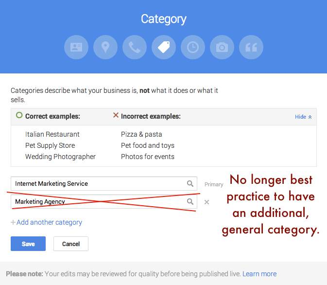 Google Plus Categories Guidelines - Search Influence