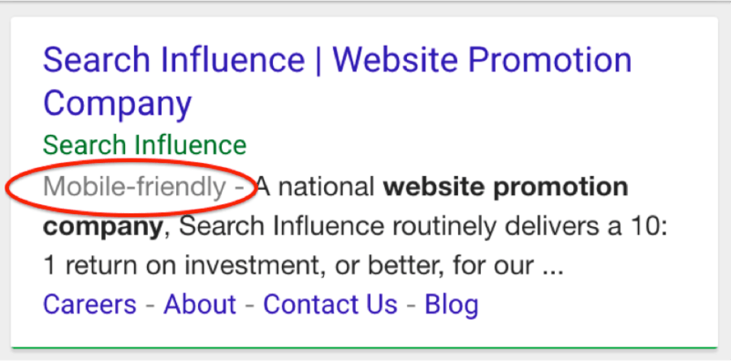 Mobile Friendly Image Search Influence