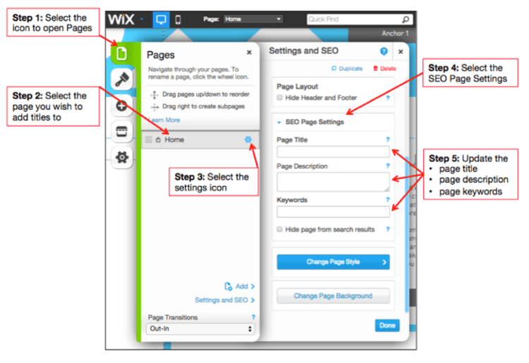 Wix Meta Tags Image - Search Influence
