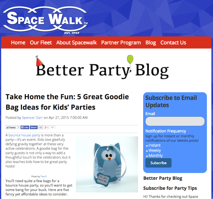 Better Party Blog Space Walk Fanchise Image - Search Influence