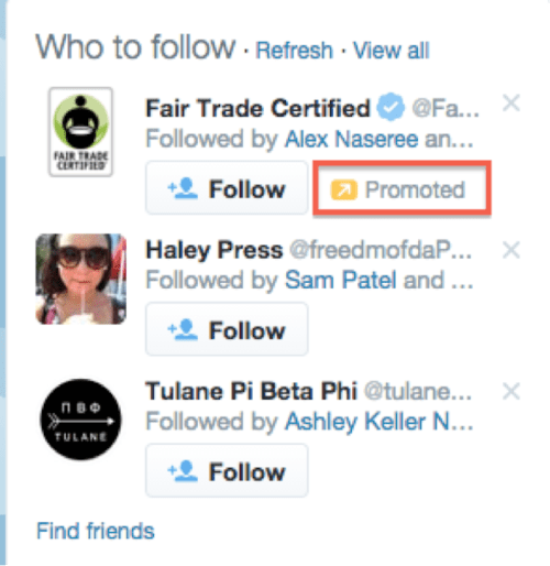 Who to Follow Twitter Ads Image - Search Influence