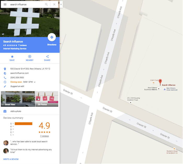 Search Influence Google Maps Location Image