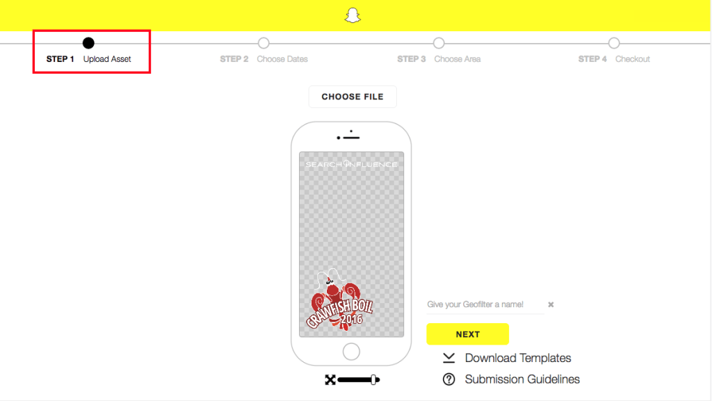 Snapchat On-Demand Geofilter 1