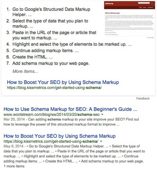 How To Boost Your SEO Using Schema Markup Screenshot - Search Influence