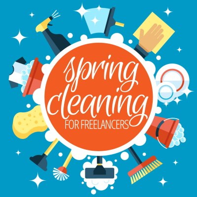 Image Of Spring Cleaning For Freelancers With Cleaning Tools - Search Influence