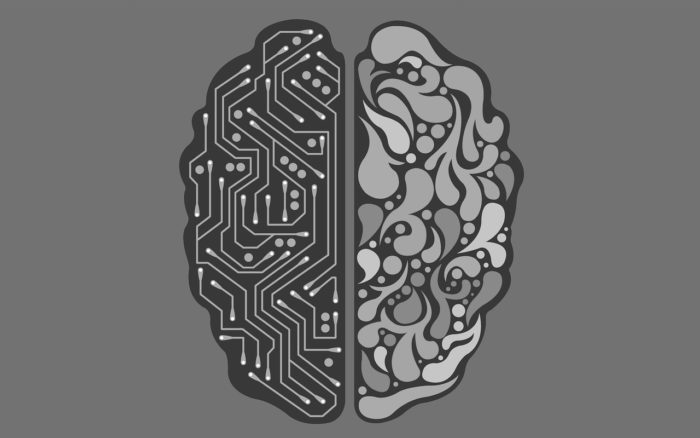 Image Of An Artificial Intelligence Brain Versus A Human's - Search Influence