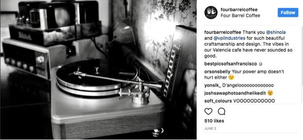 FourBarrelCoffee Instagram screenshot