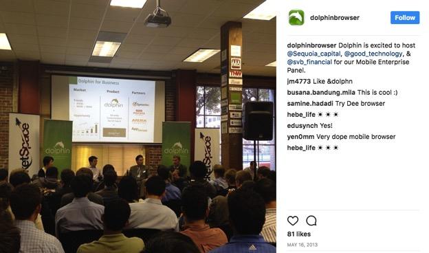 Dolphinbrowser Instagram post screenshot