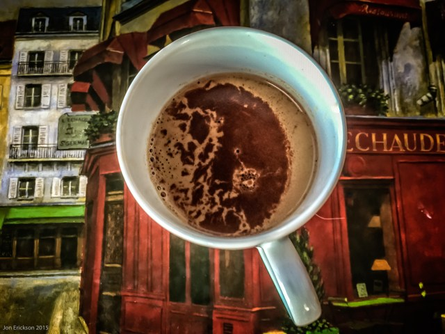 Outstanding hot chocolate, especially with the shot of espresso.
