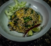 Fried Rice With Blistered Green Beans and Basil
