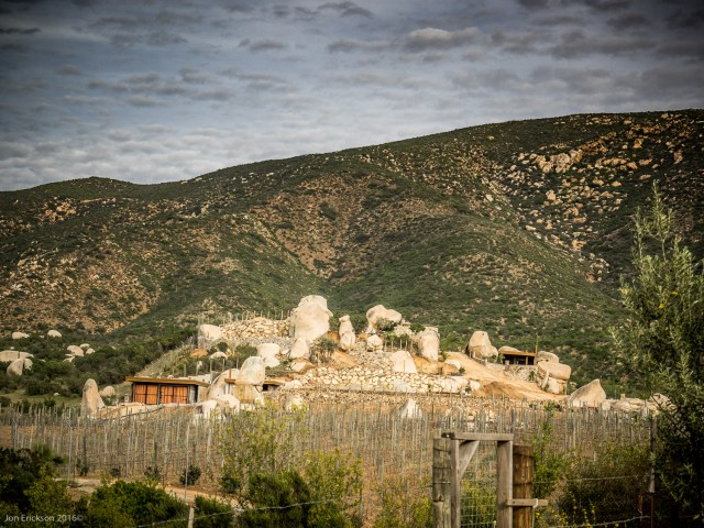 Some very interesting buildings down the road from Viñas de Garza