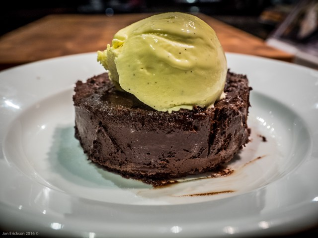 Rose Levy Beranbaum's Chocolate Oblivion Truffle Torte with Home Made Vanilla Ice Cream