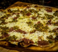 Mortadella and Pistachio Pizza