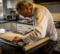 Jon Rolling the Croissant Dough