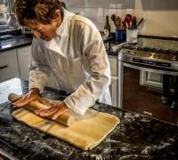 Jo Ann Rolling the Croissant Dough