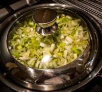 Leeks Cooking