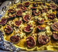 Fig Tart With Caramelized Onions, Rosemary and Roquefort