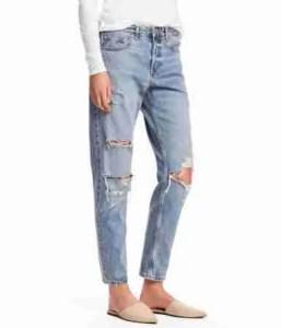 Boyfriend Low Rip Jeans H&M 2