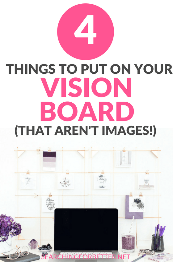 4 Things To Put On Your Vision Board (That Aren't Pictures!). Loved these #ideas for my vision board!! It helped me create some serious #goal #inspiration. Number 2 is a great DIY trick to help your #dreams come true! #goals #bossbabe #visionboard