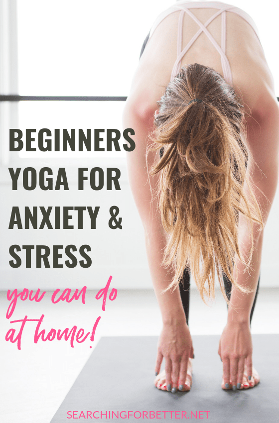 Simple Beginners Yoga For Anxiety & Stress (you can do at home!). These instructional yoga videos are simple, easy to follow and great to do at home to relieve feelings of stress, anxiety and depression. You can do them in the morning or even at bedtime! They're super easy to add to your day.