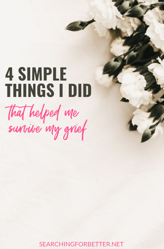 Dealing with the loss of a loved one is one of the hardest things we can ever go through. This post has simple tips that I used in my first year of grief to survive. They helped me rebuild again after I lost my brother to brain cancer. Whether you're dealing with the loss of a parent, grandparent, friend or sibling, these ideas can you process your feelings and find some ground again. #loss #grief #lovedone #cancer